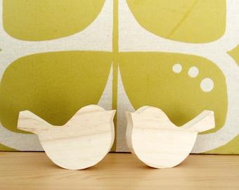 Bird in raw wood, set of 2 pieces, home decor, Scandinavian, minimalist, deco style natural
