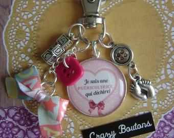 "Keychain or bag charm ""Taken"""