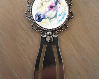 "Bookmark ""watercolor of a Unicorn"""