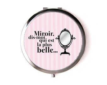 "Pocket mirror round theme ""mirror mirror..."""