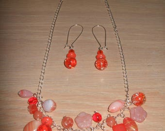 "Set 2 in 1 ""necklace or bracelet"" Preciosa Czech glass"