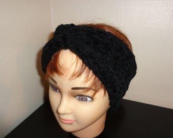 HEADBAND knitted in wool Velvet