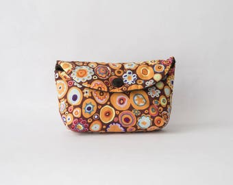 Clutch or small purse in Orange