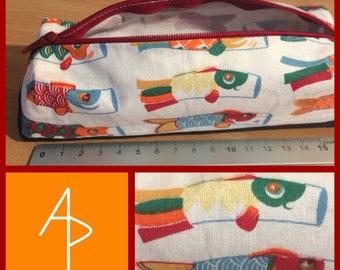 Fish kite pencil case