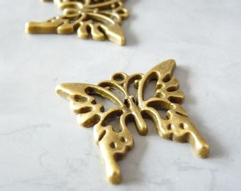 3 charms Butterfly 25 x 25, 5 mm - bronze