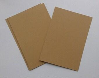 Set of 8 simple 15 kraft paper cards x 10.5 cm