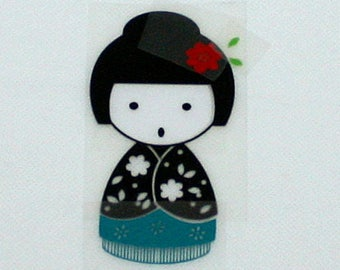 Pattern/transfer in flex fusible kokeshi large format