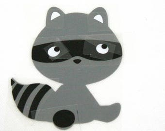 Pattern/transfer in flex fusible raccoon large format