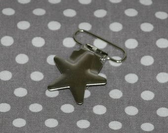 1 clip clip metal star money clip-pacifier/Soother/blanket/strap