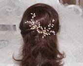Pearl bridal hair pins bridal hair accessory