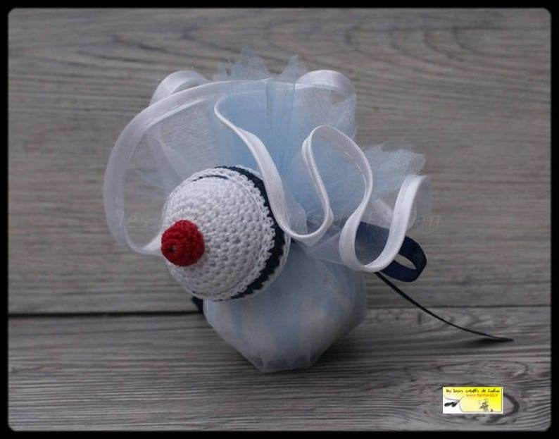 Blue Navy and red for baptism white communion or other events 10 door sweets /' little sailor hat
