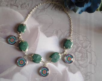 Necklace stones and cabochons