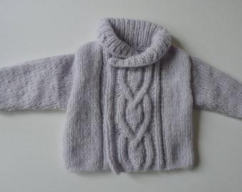 Shawl collar-knitted Cardigan
