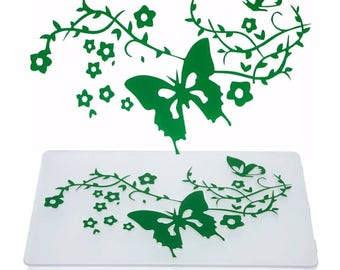 card with embossed embossed butterflies for scrapbooking
