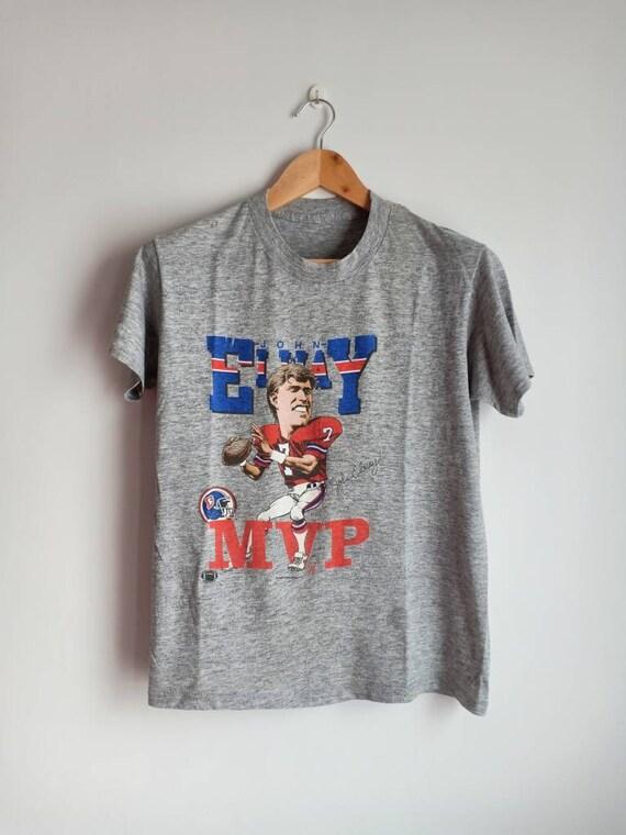 Vintage John Elway Denver Broncos caricature 80's