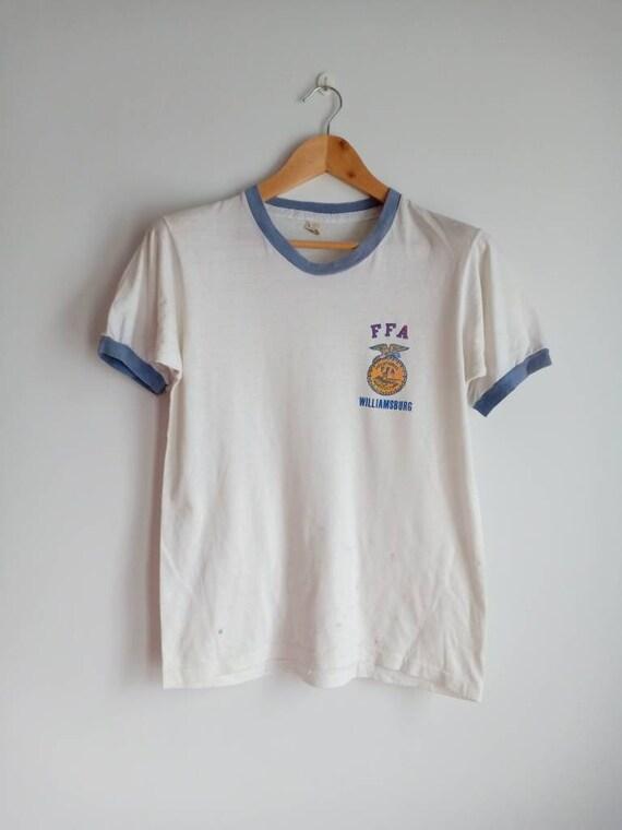 Vintage FFA ringer 80's t shirt