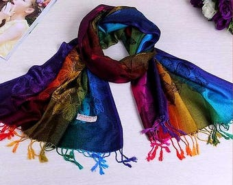 Etole-écharpe Multicolore fibre style Pashmina   Dim   L 175 cm x l 70 cm d2c68535b85
