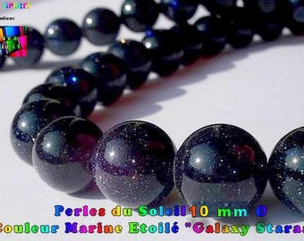 """5 genuine pearls from the Sun """"Galaxy Staras"""" Navy star 10 mm to ∅ - drilling hole 1 mm ∅"""