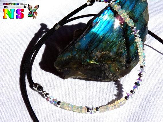 Sterling Silver Turquoise Fleur Collier Tour De Cou Fabriqué Avec Cristaux Swarovski