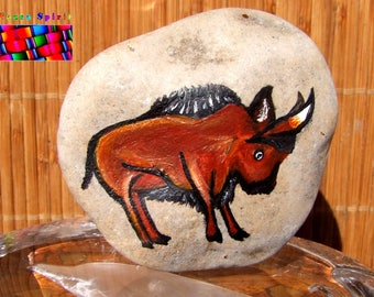 "Pebble medicine Native American shamanism - Totem the Buffalo - ""Thathanka"""