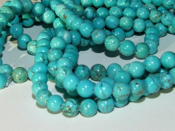 Semi Precious Gemstone Turquoise Round Beads for Shamballa Bracelet Making Craft