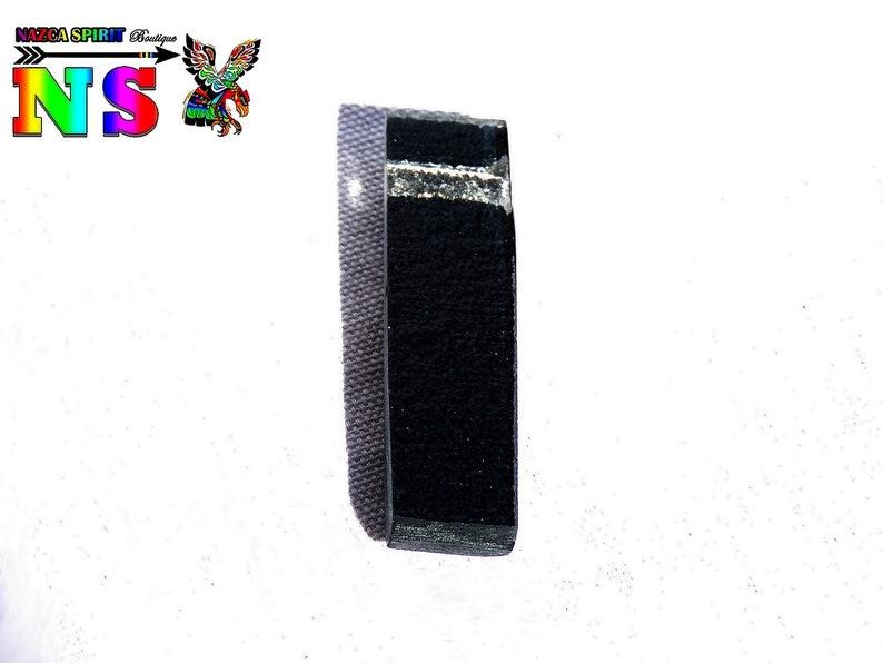 Rectangle pendant 6 cm 2.36 fusing glass-handcrafted glass pendant-unique design-black and blue turquoise iridescent light