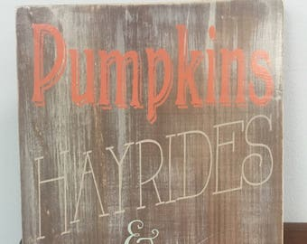 Fall wood signs, Wood sign for fall, Autumn Signs, Pumpkins, rustic wood sign, wood signs for fall