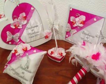 matching pillow ring bearer wedding money box, pen and guest book