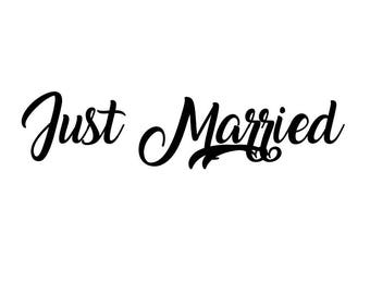 """Stickers """"Just Married 1"""""""