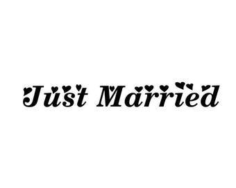 """Stickers """"Just Married 2""""for wedding decor"""