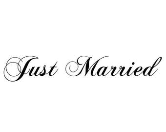 """Stickers """"Just Married 3""""for wedding decor"""