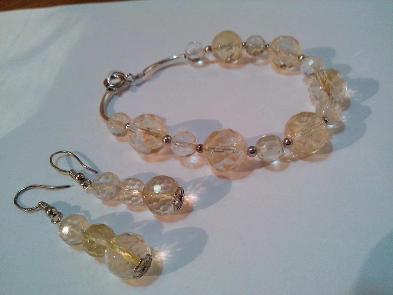 citrine earrings women gift 925 sterling silver natural gem gift for her Citrine set citrine bracelet citrine jewelry