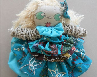 BABALINE BLONDINE 02 - 192 in fabrics and wool - OOAK