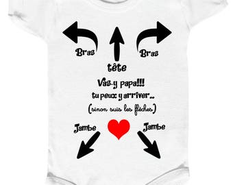 Message to Dad baby Bodysuit 0c7caf2eead