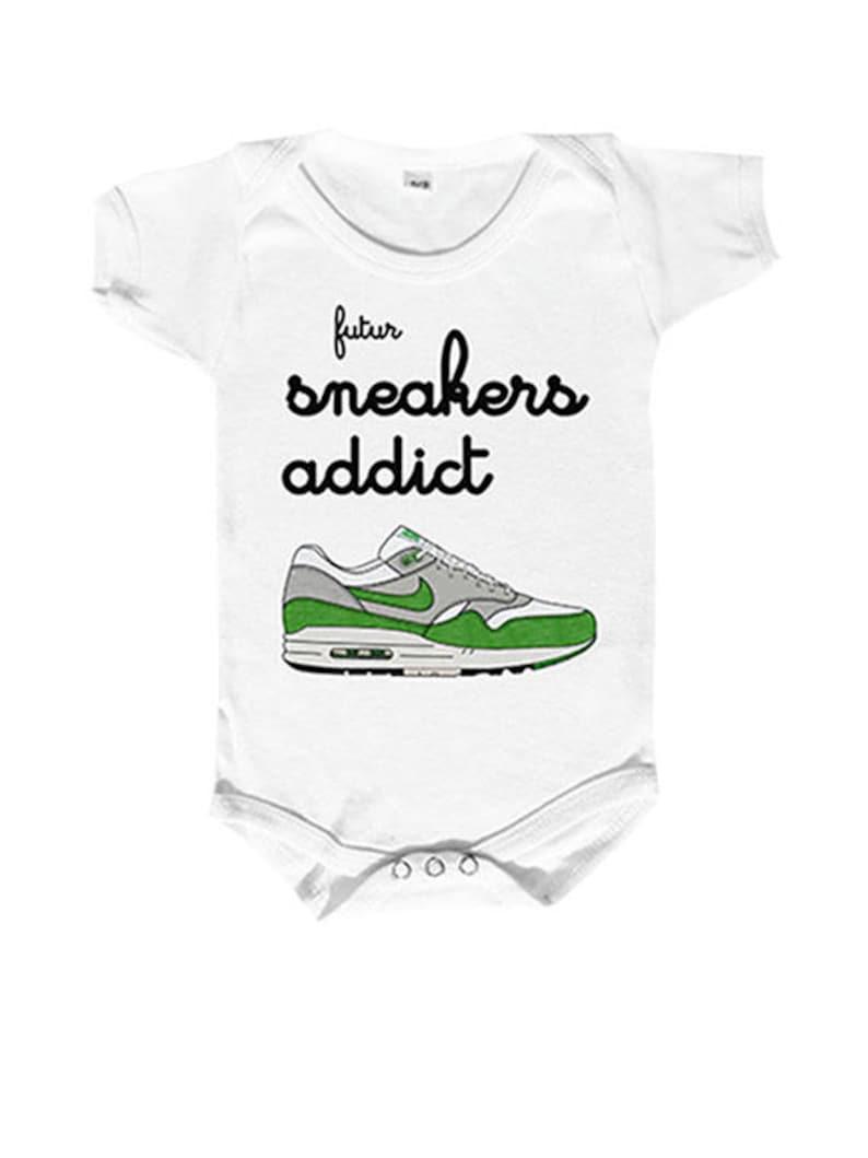 Body Bébé Personnaliséfutur Fan De Sneakers Body Bébé Etsy