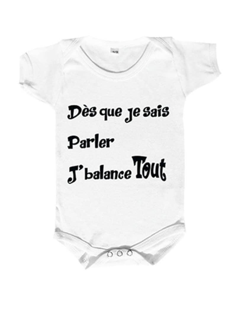 7c23432c63eac Body bébé humour body bébé personnalisé vêtement bébé