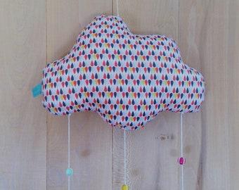 "Mobile ""of fish in a cloud"" SCANDINAVIAN multicolor"