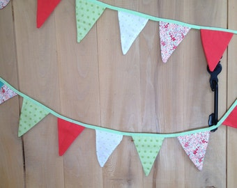 Spring, pink and green Bunting