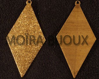 4 sequins 41x20mm frosted Gold Diamond Pendant charms