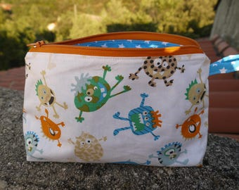 """Great kid Kit """"Monsters and stars"""" lined and zipped"""
