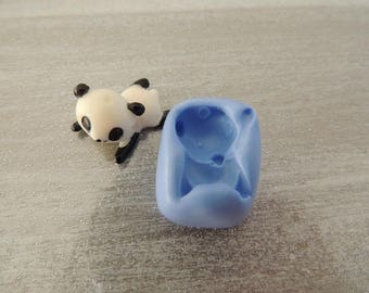 Mold for polymer clay cute panda about 2cm