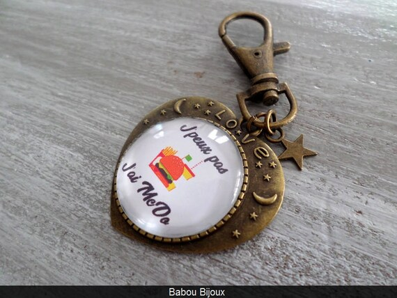 Porte clé personnalisé cabochon 2.5cm PROMO