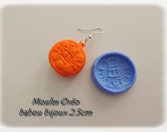 Mold for polymer clay silicone oreo cookie