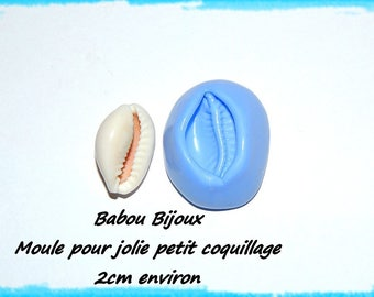 Great mold for pretty little shell about 2 cm