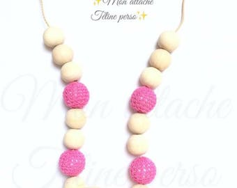 breastfeeding and Babywearing necklace ~ pink