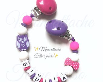 "Clip blanket personalized with wooden beads ~ cool model ""Giulia"""