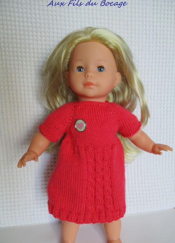 8b378fda392fc3 Vêtement de poupée Ma Corolle 36 cm Vanille robe rose   Etsy