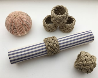 Individually - Napkin rounds - tables - marine decoration - parties - rope - table decoration
