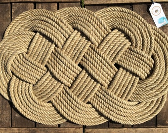 Carpet - Bed descent - Descent of Stairs - Marine decoration - Rope - For indoor use...