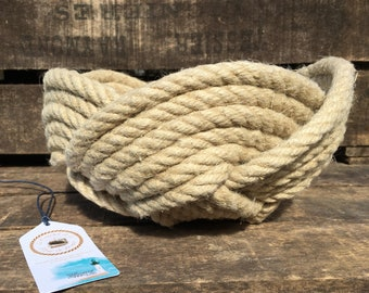Table baskets, navy decoration, sea knots, rope storage